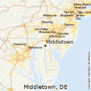 Middletown,Delaware Map