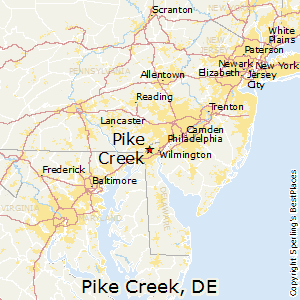 Pike_Creek,Delaware Map