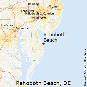 Rehoboth Beach Delaware Map