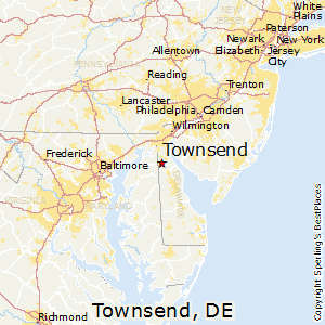 Townsend,Delaware Map