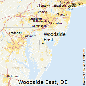 Woodside_East,Delaware Map