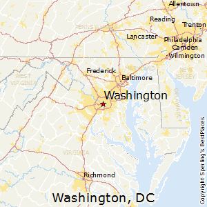 Washington,District of Columbia Map