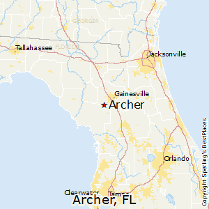 Florida On Map.Best Places To Live In Archer Florida