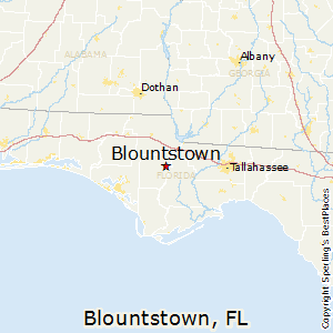 Blountstown,Florida Map