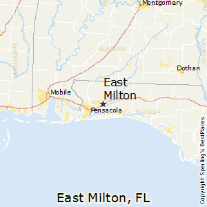 Milton Florida Map.Best Places To Live In East Milton Florida