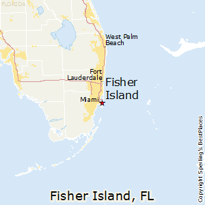Fisher_Island,Florida Map