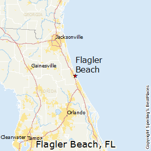 Flagler_Beach,Florida Map