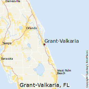 Grant-Valkaria,Florida Map