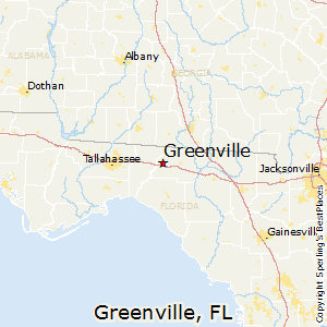 Greenville,Florida Map