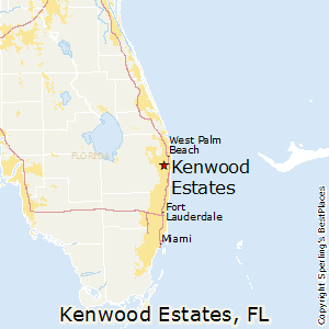 Kenwood_Estates,Florida Map