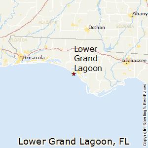 Lower Grand Lagoon Florida Map