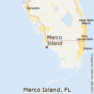 state of florida map marco island