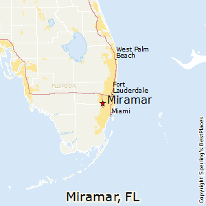 miramar miami florida map
