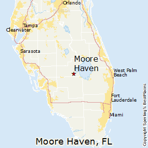 Moore_Haven,Florida Map