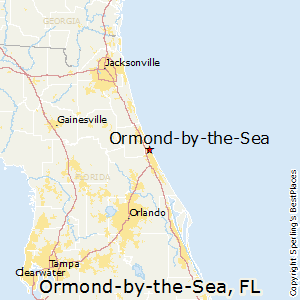 Ormond-by-the-Sea,Florida Map
