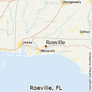 Roeville,Florida Map