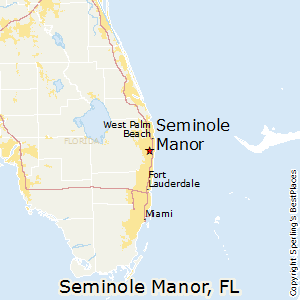 Seminole_Manor,Florida Map