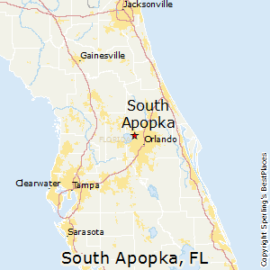 Apopka Fl Map Comparison: South Apopka, Florida   Oviedo, Florida Apopka Fl Map