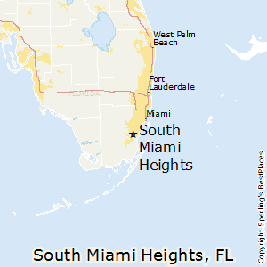 South_Miami_Heights,Florida Map