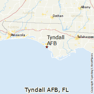 Tyndall_AFB,Florida Map