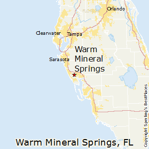 Warm_Mineral_Springs,Florida Map