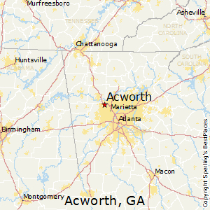 Acworth,Georgia Map