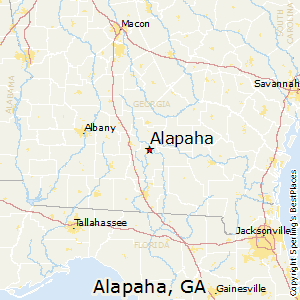 Alapaha,Georgia Map