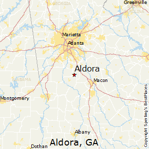 Aldora,Georgia Map