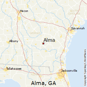 Alma,Georgia Map