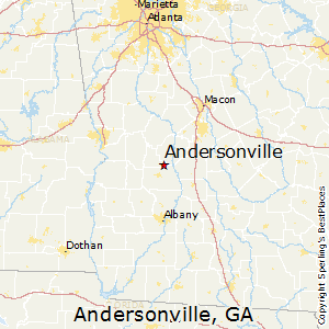 Andersonville,Georgia Map