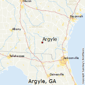 Argyle,Georgia Map