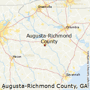Map Of Georgia Augusta.Augusta Richmond County Georgia Cost Of Living