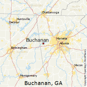 Buchanan,Georgia Map
