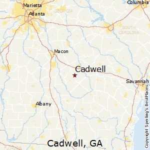 Cadwell,Georgia Map