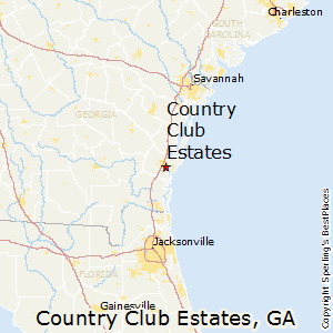 Country_Club_Estates,Georgia Map