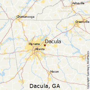 Dacula,Georgia Map