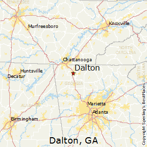Dalton,Georgia Map