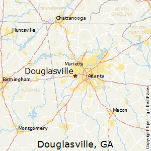 Map Of Georgia Cities Around Atlanta.Best Places To Live In Douglasville Georgia