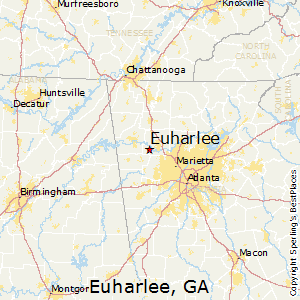 Euharlee,Georgia Map