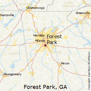 Forest_Park,Georgia Map