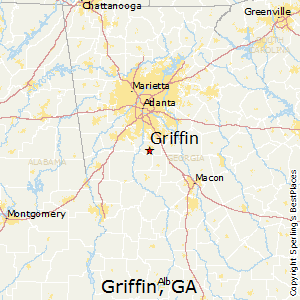 Griffin,Georgia Map