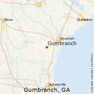 Gumbranch,Georgia Map