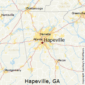 Hapeville,Georgia Map