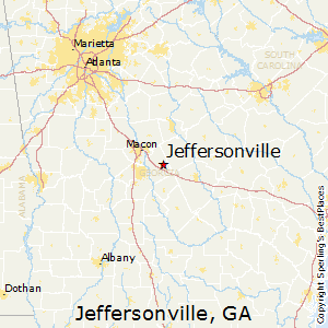 Jeffersonville,Georgia Map