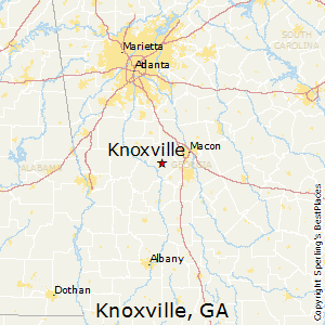Knoxville,Georgia Map