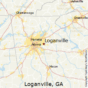 Loganville,Georgia Map