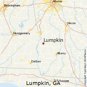 Lumpkin,Georgia Map
