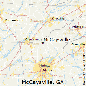 McCaysville,Georgia Map
