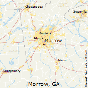 Morrow,Georgia Map
