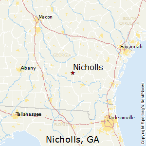 Nicholls,Georgia Map